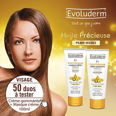 Test produits - Crème gommante et masque huile précieuse d'Evoluderm - Nous recherchons 50 testeurs ! Posez votre candidature…