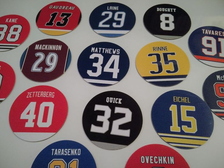 NHL Stars Jersey Design Refrigerator Magnets - Pick Matthews Crosby McDavid Kane #none