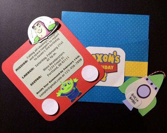 Handmade Toy Story Invitations by MaddyHandMade on Etsy