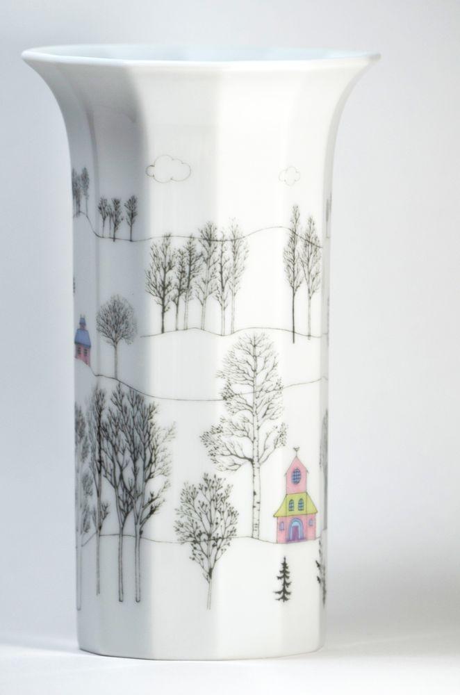 Rosenthal Tapio Wirkkala Rut Bryk Porcelain Polygon Vase Danish Modern Germany #Rosenthal