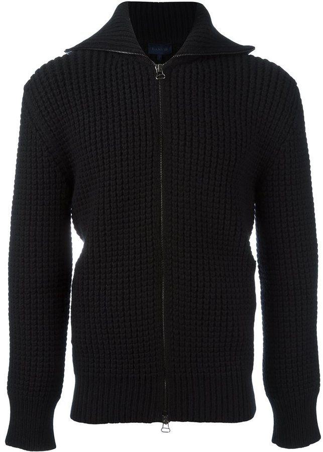 Lanvin military stitch zipped fleece