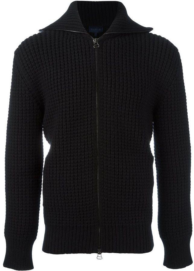 Lanvin military stitch zipped fleece