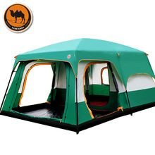 A camel ao ar livre 6/7/8/9/10-12 pessoas barraca de camping 4 temporada outing tenda de dois quartos grande espaço de alta qualidade da barraca de acampamento(China (Mainland))