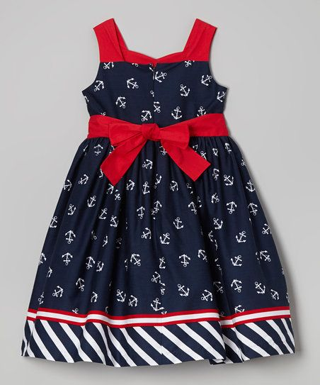 Ahoy matey! Little sweeties can set sail in style wearing this nautical piece. Its playful print and bow-adorned silhouette create a classic sea-worthy look.