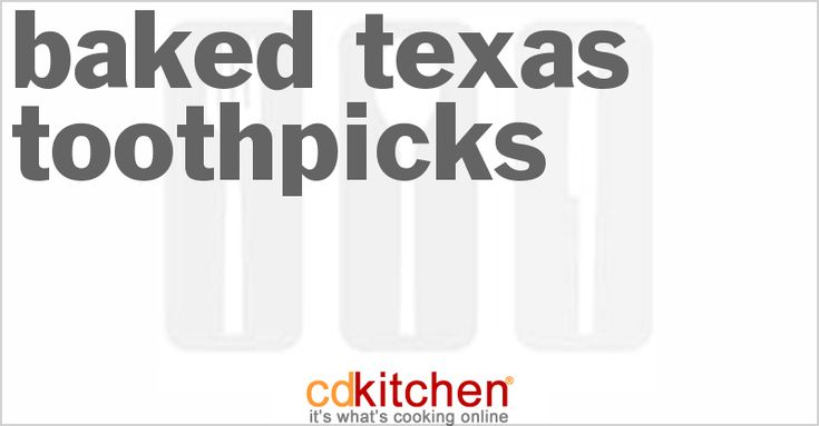 A recipe for Baked Texas Toothpicks made with jalapeno peppers, onions, buttermilk, coating