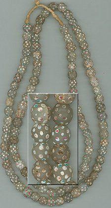 White Polka Dot Venetian Trade Beads