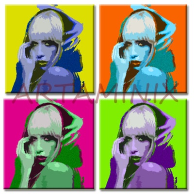 LADY GAGA POP ART #PAINTING #HANDMADE