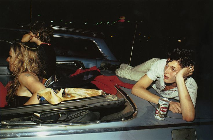 Nan Goldin - French Chris at the drive-in, New Jersey 1979