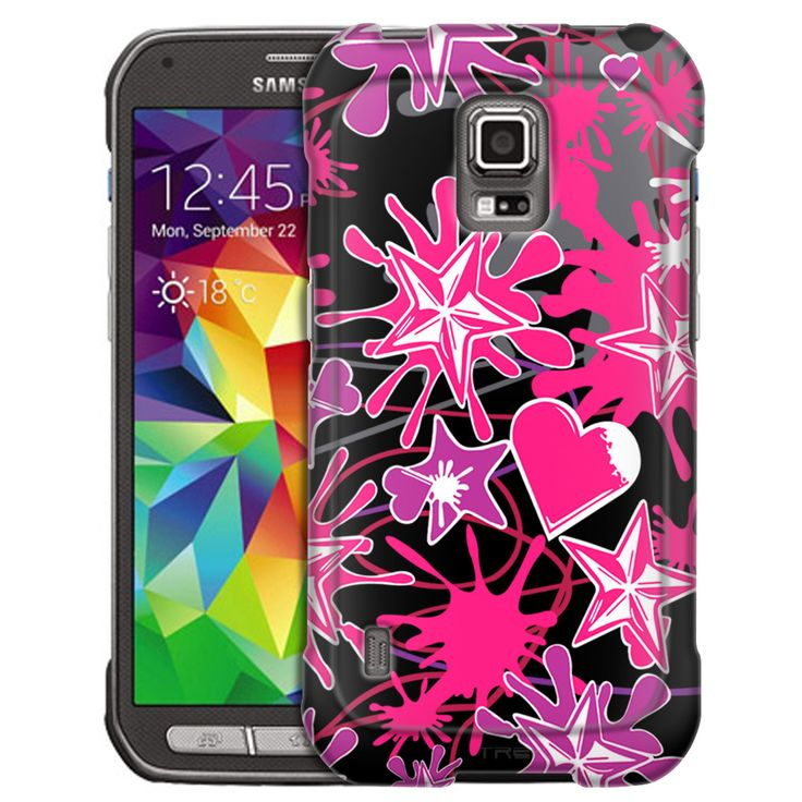 ... Heart Stars Splatter on Black Case : Heart, Products and Samsung