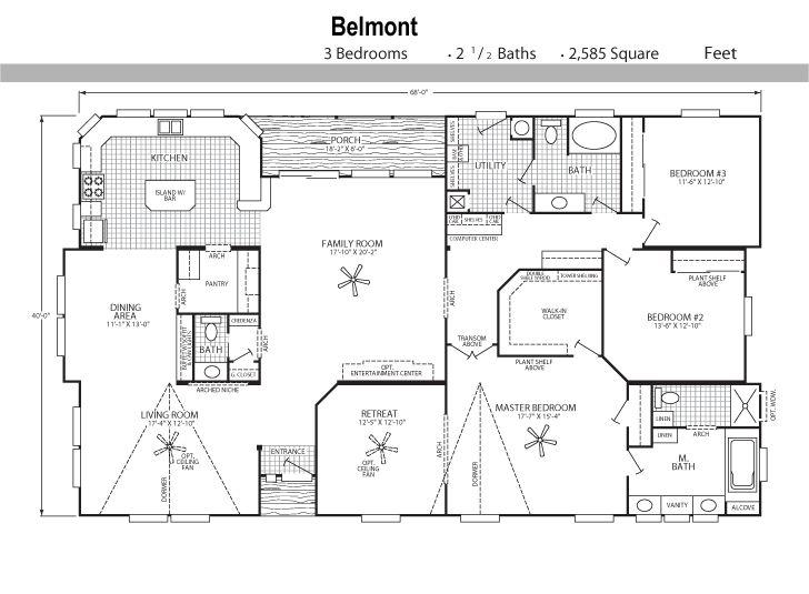30 best mobile home floor plans images on Pinterest | House floor ...