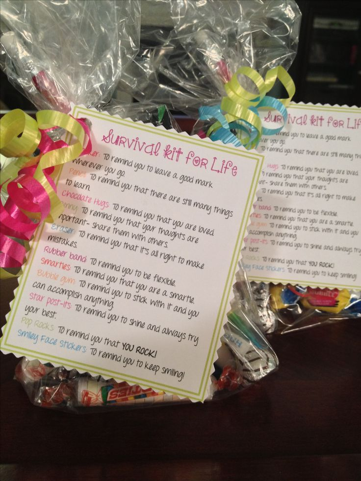 End of year student gifts: survival kit for life