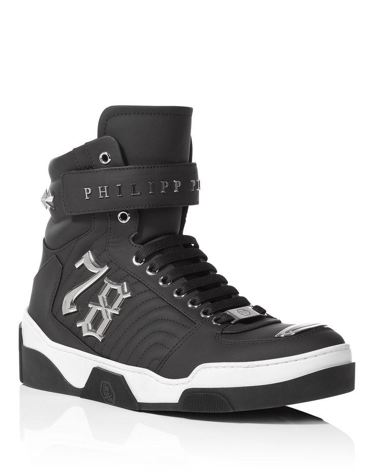 "PHILIPP PLEIN HIGH SNEAKER ""BOBBY K"". #philippplein #shoes #"