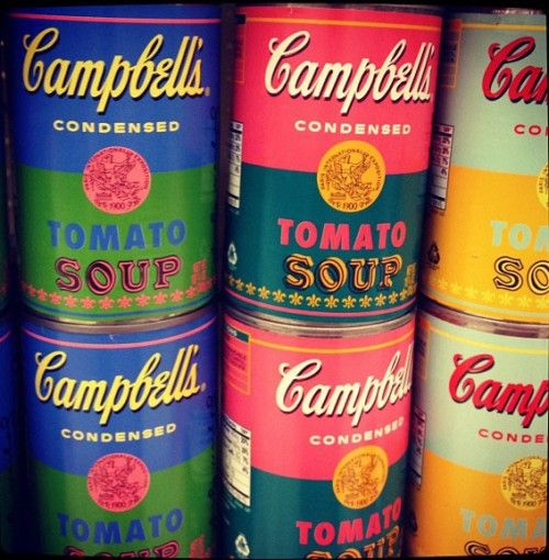 andy warhol cambells soup can Left: campbell's soup cans (1962) by andy warhol (1928-1987) synthetic polymer paint on thirty-two canvases, each 20 x 16 on april 25, 2015 the museum of.