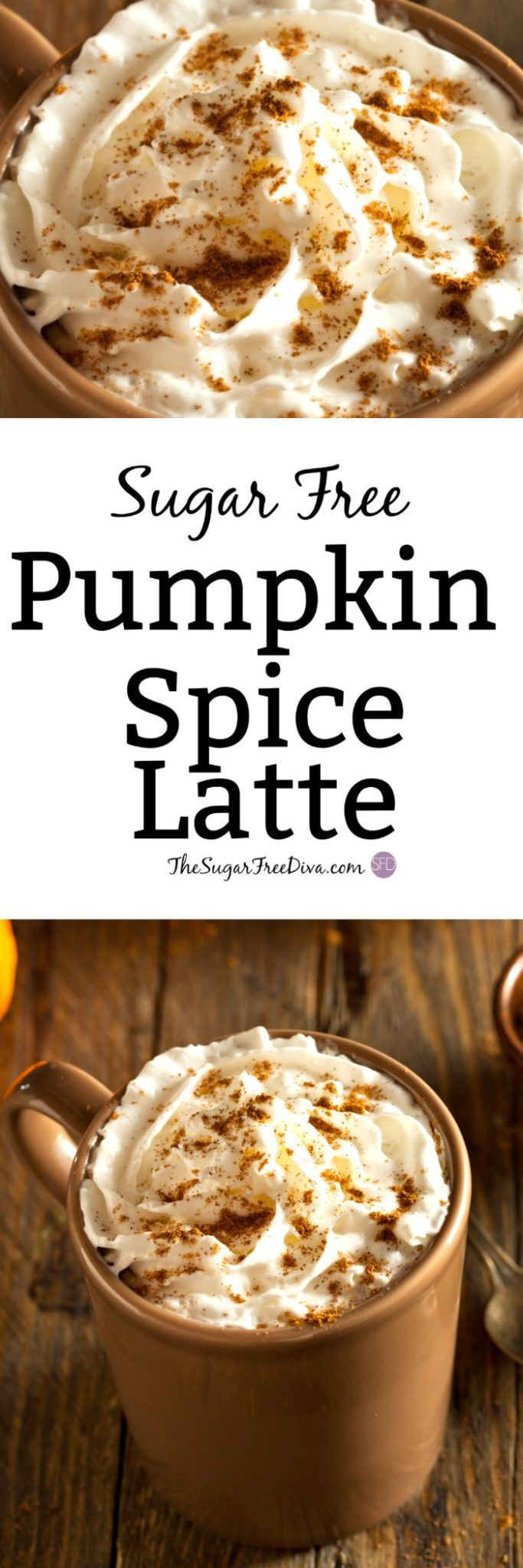 How to Make a Sugar Free Pumpkin Spice Latte--WAIT! Before you spend all that money on a latte that may also be full with sugar, check this out! It is a recipe for SUGAR FREE PUMPKIN SPICE LATTE! Such an easy and yummy recipe too that you can make at home for this fall or autumn gathering, tailgate, party, or for when you want a treat or a snack. Halloween anyone?
