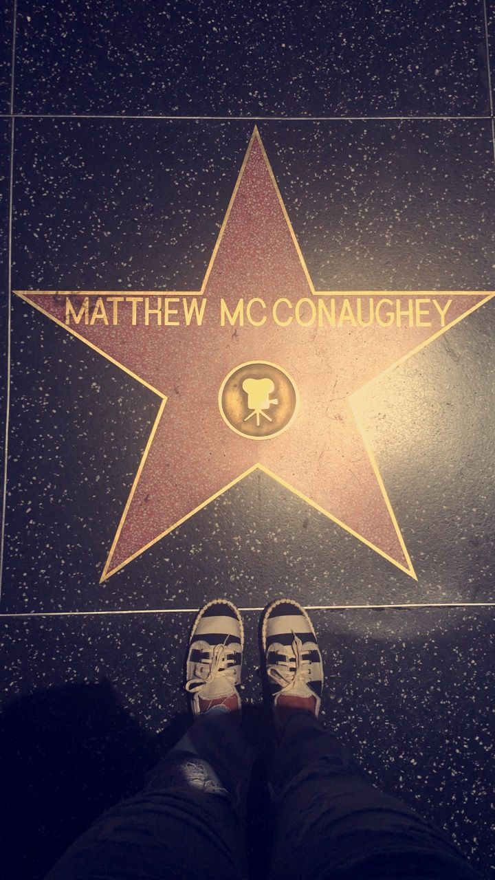 Annahughes4 Hollywood Walk Of Fame Star Hollywood Walk Of Fame Matthew Mcconaughey