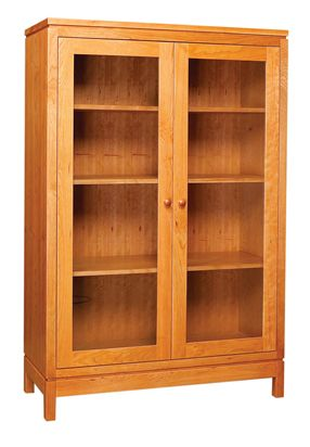 beautiful bookcase with doors