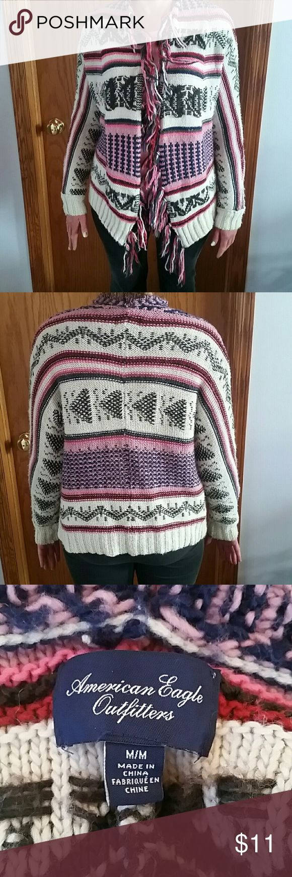 Ameican Eagle Poncho Sweater Warm and cozy aztec shawl sweater American Eagle Outfitters Sweaters Shrugs & Ponchos