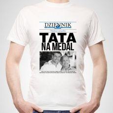 Koszulka personalizowana męska DZIENNIK DLA TATY idealny na urodziny