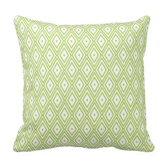 Lime Green and White Diamonds Throw Pillow - Green Throw Pillows *Fresh inventory added to site, visit www.prettythrowpillows.com to see all of our green throw pillows