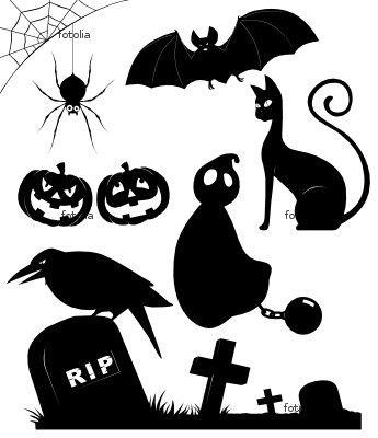 Halloween jar luminaire silhouettes
