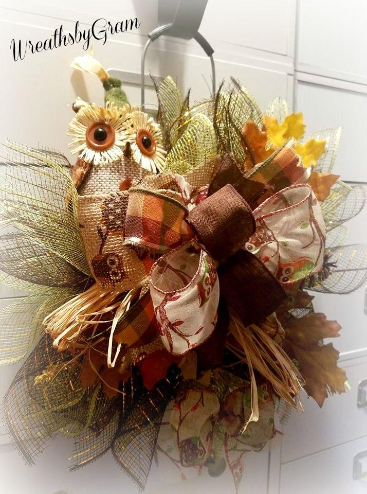 Fall Owl Wreath; Fall Owl Door Hanger; Fall Owl Decor; Fall Owl Decorations; Harvest Wreath; Thanksgiving Decor; Fall Wreath; fall decorating; fall decorations; fall door decor; Housewarming Gift; Thanksgiving Hostess Gift; Thanksgiving Decor; Fall Door Wreath; Fall Door; Farmhouse Decor; Country Owl; Farmhouse Style; Farmhouse Porch; Rustic Decor; Country Fall Decorations; Country Fall Decorating; Porch Decorations; Fall Porch decorating ideas