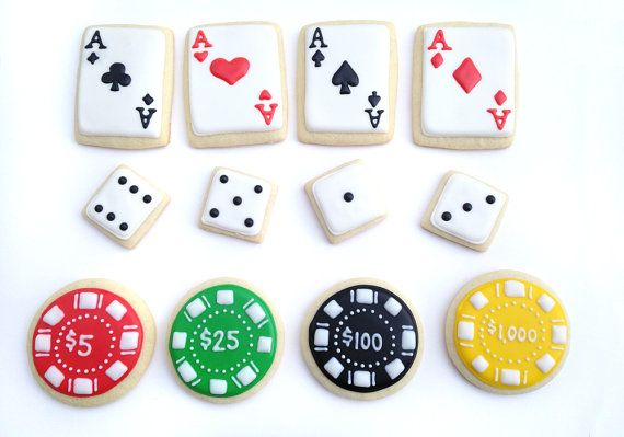 Las Vegas / Poker / Casino Sugar Cookies by guiltyconfections, $23.40