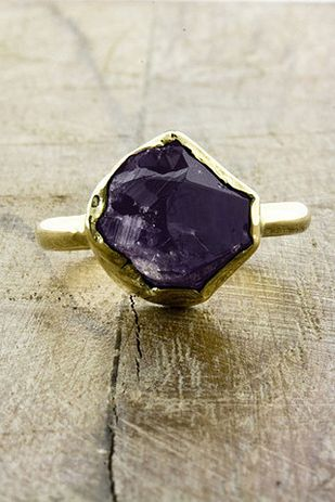 14K Gold and Amethyst Rosa Ring, $950 | 25 Stunning Engagement Rings That Aren't Made With Diamonds