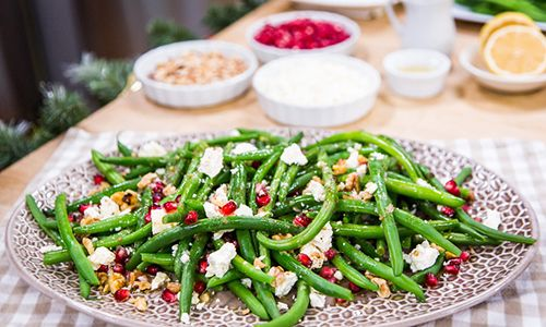 .@Home and Family  Recipes - @CristinaCooks Green Beans with Feta & Walnut-Shallot Vinaigrette | Hallmark Channel