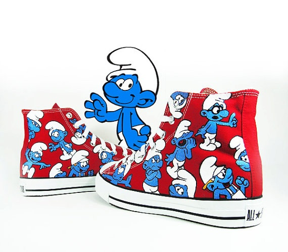 Haha Smurf!  I love the smurfs so cool want these