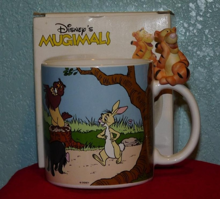 VINTAGE DISNEY MUGIMALS WINNIE THE POOH TIGGER MUG: Vintage Disney, Mugimals Winnie, Disney Mugimals, Winnie The Pooh, Pooh Tigger