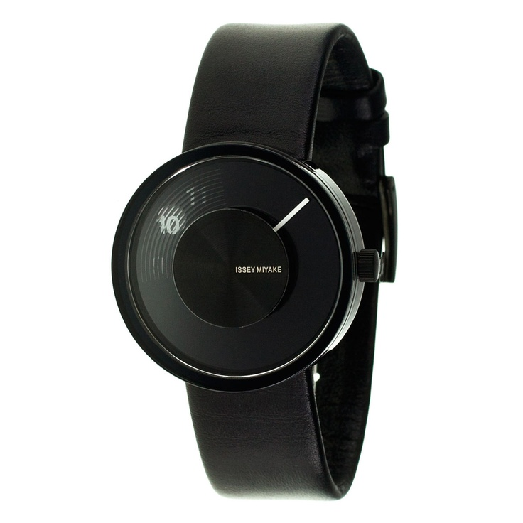 Vue Yves Watch Leather Black