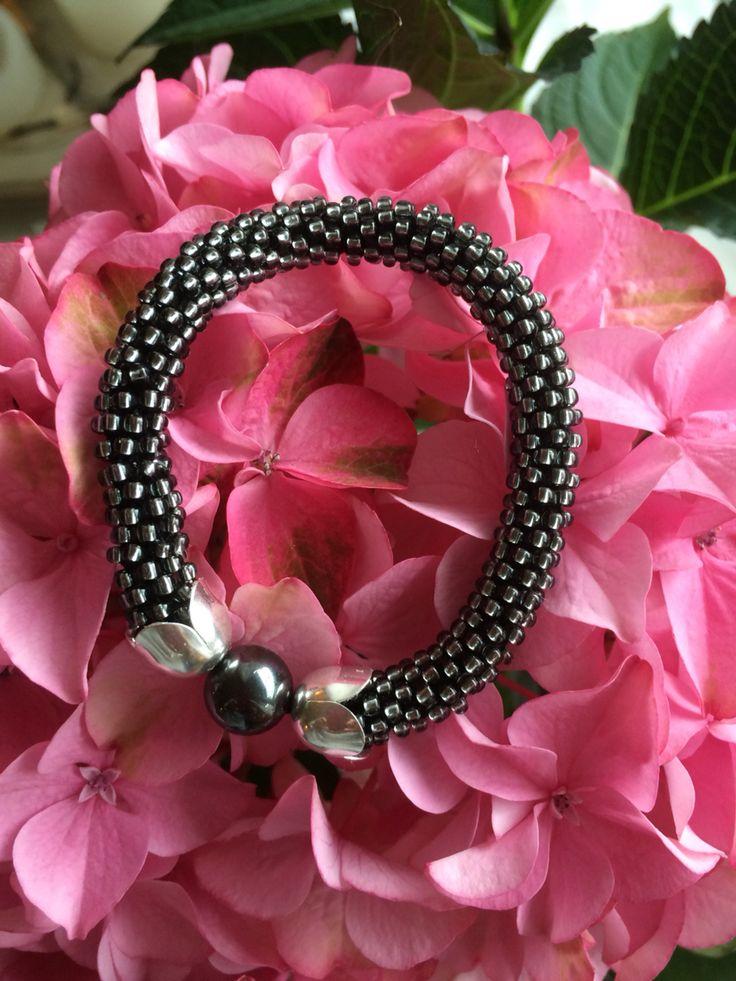 Crocket bead rope bracelet