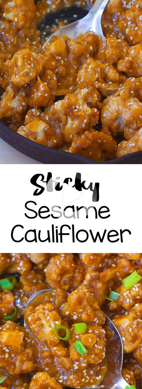 Super délicieuse recette pour le souper de chou-fleur de sésame à base de plantes en b… in 2020 ...