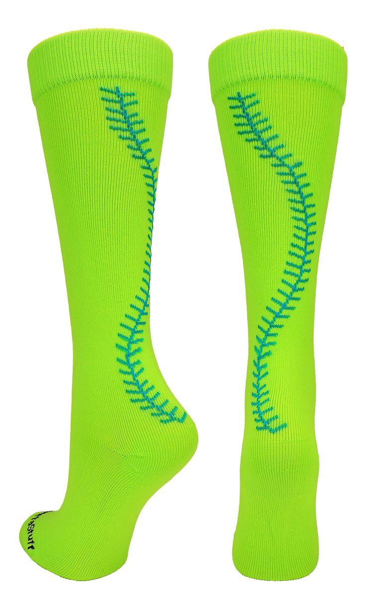 Softball Stitch Over the Calf Socks (multiple colors)