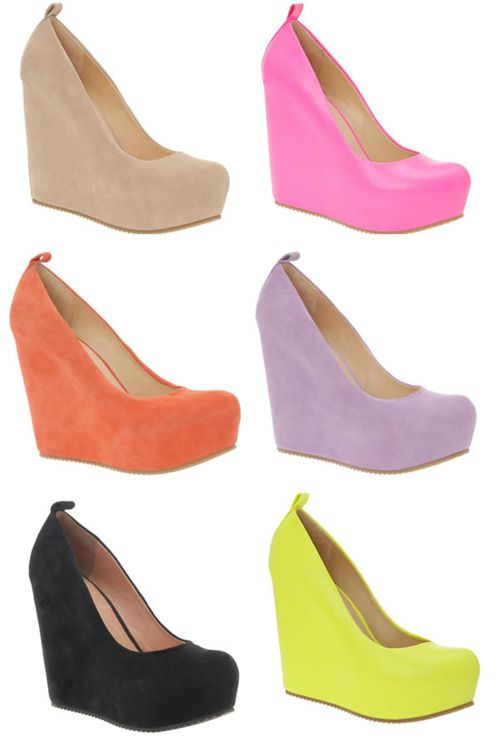 cute: Fashion Shoes, Wedges Heels, Colors Wedges, Walks, Style, Spring Colors, Shoess, Bridesmaid Shoes, Black