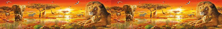 Bella cinta que muestra un #paisaje #africano, Se elabora en #vinil #autoadhesivo, resistente al agua y al sol, se ofrece en rollos de metro y medio de largo x 20 cms de ancho, se envian a todo el mundo, para mas informacion comuniquese con riccardozullian.enlamira@hotmail.com  #leon #elefante #solafricano #zebra #jirafa #flamingo