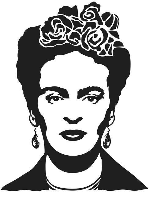 Resultado de imagen para stencil frida kahlo para imprimir