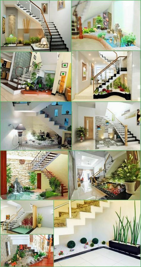 Under The Stairs Decoration Ideas With Plants Beautifying Home