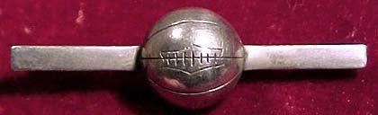 Art Deco SOCCER or FOOTBALL Sterling Silver Tie or Bar Brooch