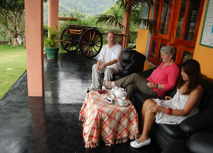 Sipping Ceylon Tea in the Ella tea hills (Wellawaya) in South Sri Lanka. Check our blog for full story of our South Sri Lanka Tour and Guide for Independent Travel in Southeast Asia. Here: http://live-less-ordinary.com/southeast-asia-travel/south-sri-lanka-tour-independent-travel