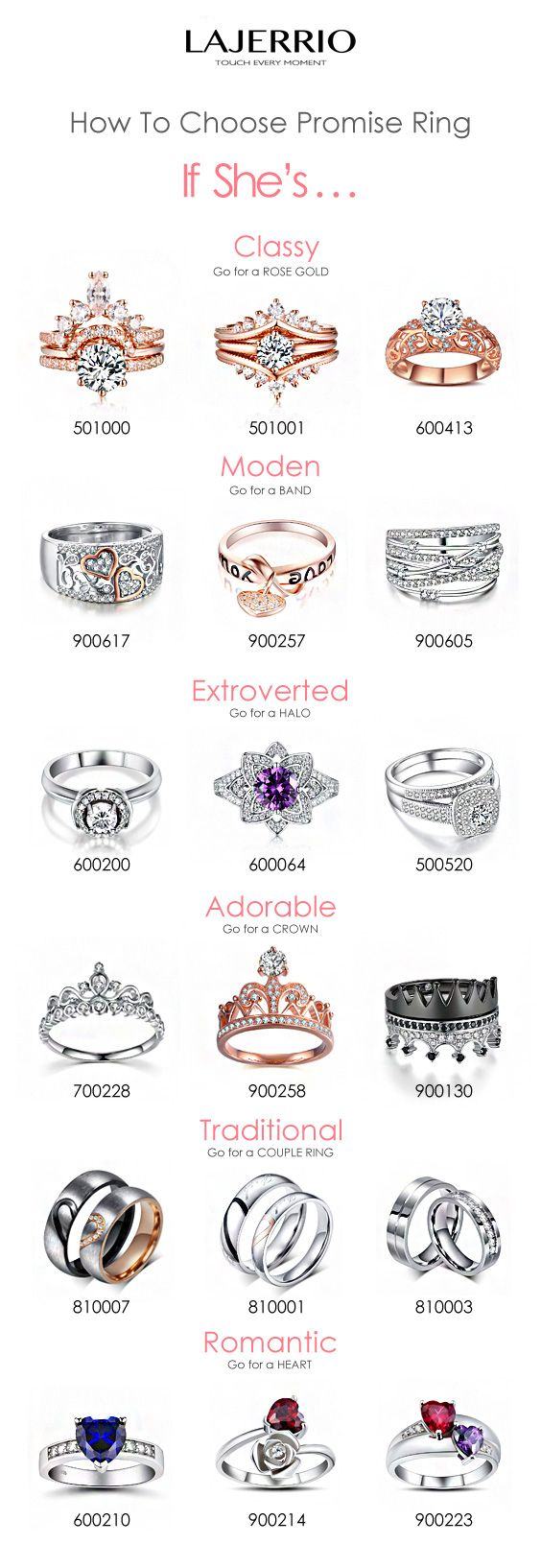 Lajerrio.com engravable promise #rings for her for him for couples women's fashion wedding engagement gifts