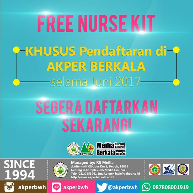 Free Nurse Kit selama Juni di AKPER BERKALA • • #akper #akademi #keperawatan #akperberkala #cibubur #depok #cileungsi #bekasi #bogor #tangerang #jakarta #indonesia #mahasiswa #kampus #kuliah #perawat #nakes #nurse #profesi