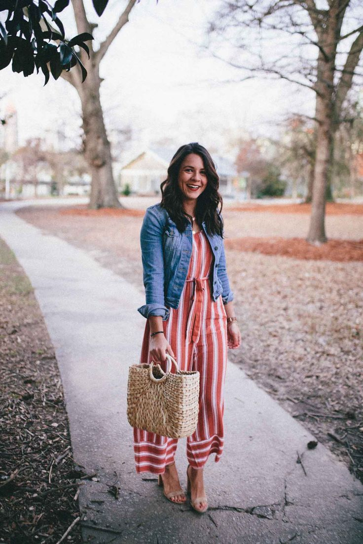 c07bf905d78b This red striped jumpsuit is a versatile closet must have for spring and  summer. See how style blogger My Style Vita dresses it up for the weekend.