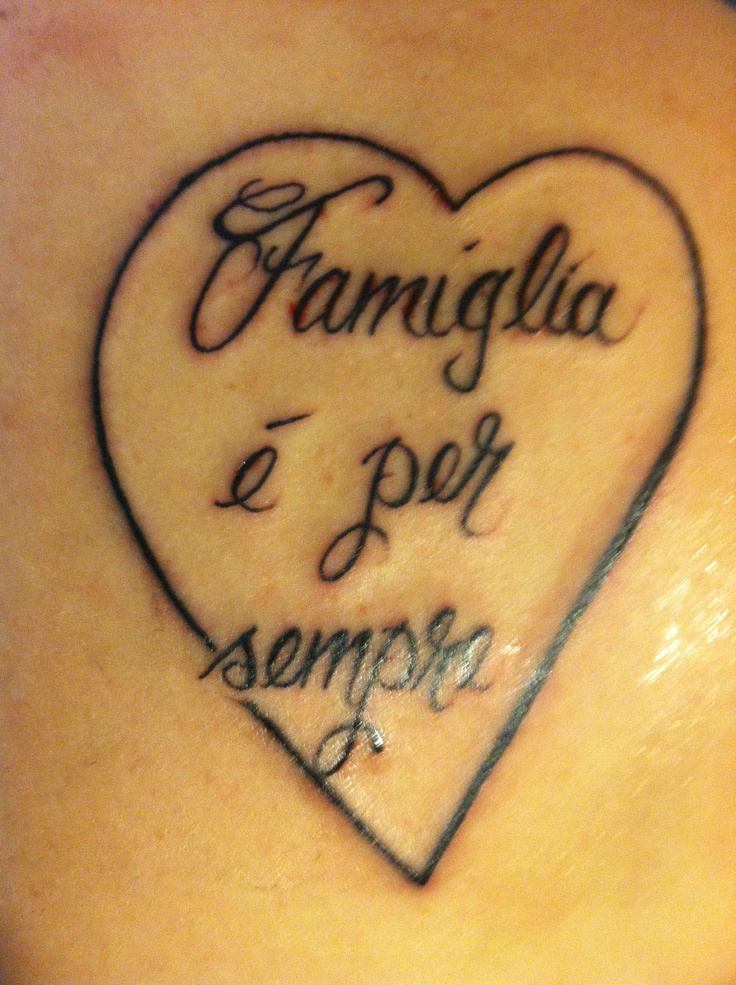 Foreign tattoo quotes quotesgram for Family saying tattoos