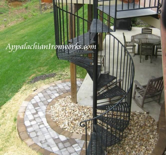 Outdoor spiral staircase in Virginia By Appalachian Ironworks  appalachianironworks com92 best Spiral Staircases by Appalachian Ironworks images on  . Outdoor Spiral Stairs Canada. Home Design Ideas