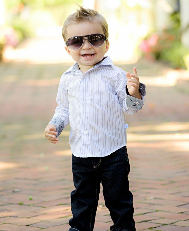 White/Black Striped Formal Shirt