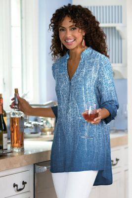 Brigitte Tunic from Soft Surroundings. Really like the ombre print on this one and the tunic length.