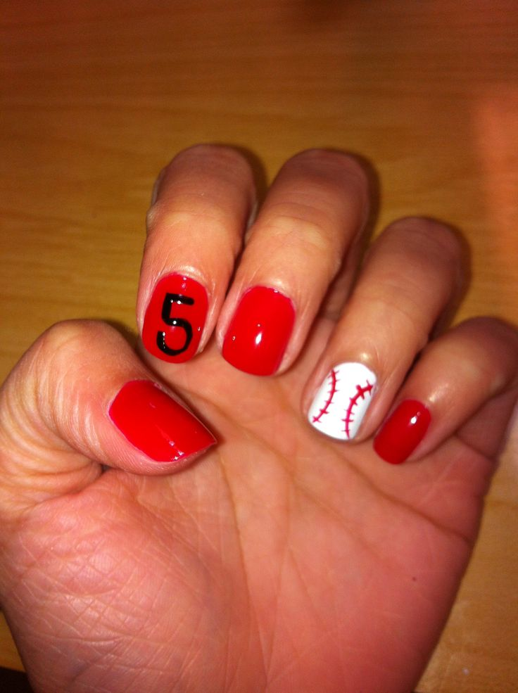 Best 60 Sports Themed Nails Images On Pinterest