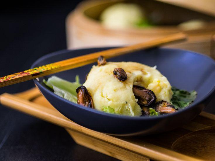 Nidi di patate al vapore ripieni di cozze   Mastercheffa