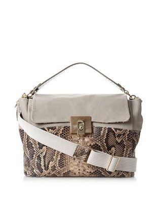 Lanvin Women's Medium Double Carry Bag, Grey
